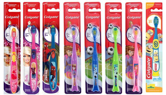 Детские зубные щетки Колгейт