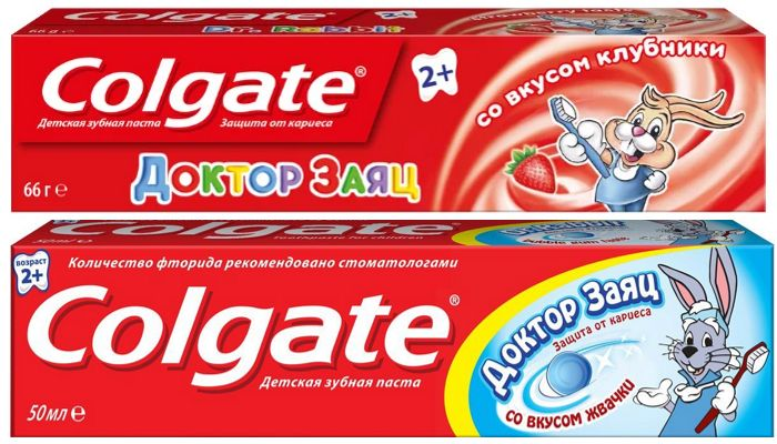 Детская зубная паста Колгейт Доктор Заяц