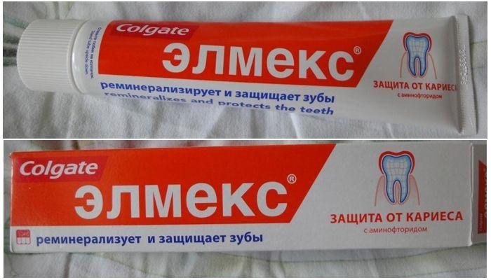 Зубные пасты Colgate Elmex