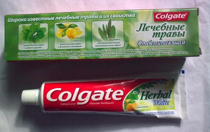 Зубная паста Colgate Лечебные травы отбеливающая