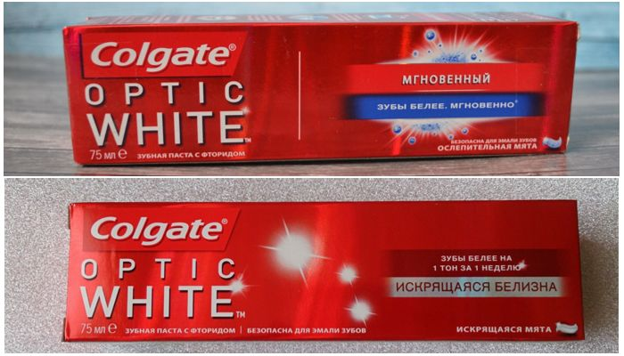 Разновидности Colgate Optic White