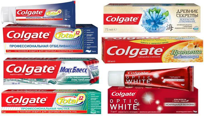 Зубные пасты Colgate