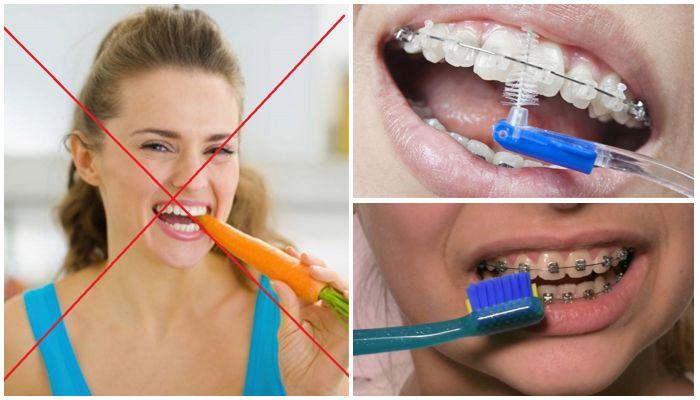 Фото отказа от твердых продуктов, чистка зубов