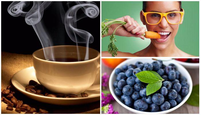 Отказ от кофе, красящих продуктов, твердой пищи