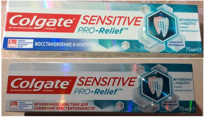 Паста Colgate Sensitive Pro Relief виды