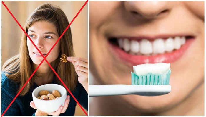 Запрет на твердые продукты и гигиена полости рта