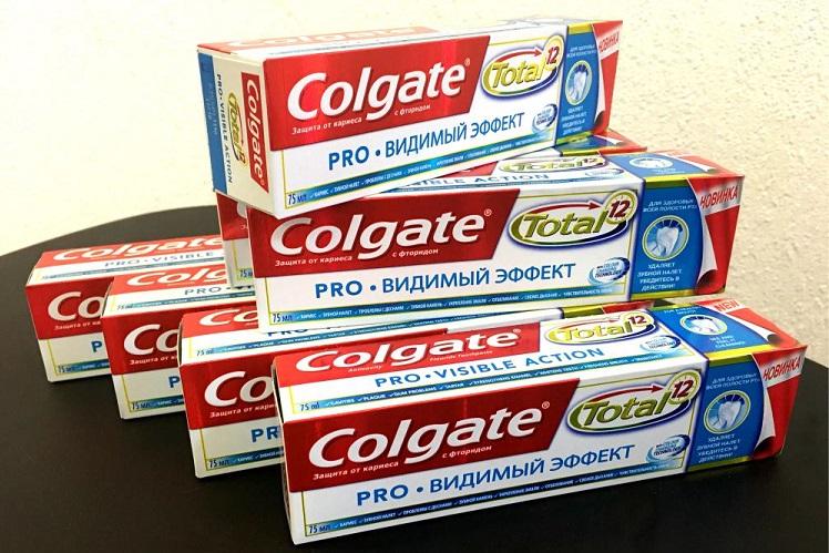 Зубная паста Колгейт Тотал Про видимый эффект