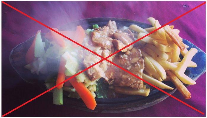 Отказ от горячих блюд