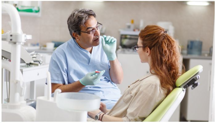 Фото пациента у стоматолога