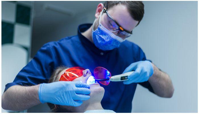 Фото экстракции зуба лазером